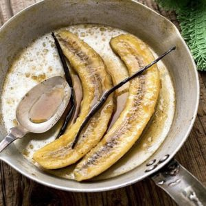Bananas Foster and vainilla