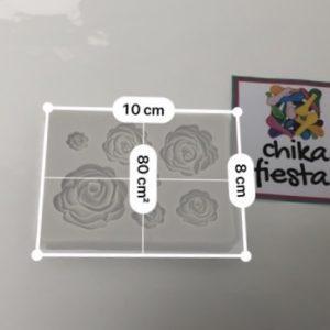 Molde de silicon de flores