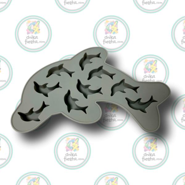 Molde de silicon de delfines mini