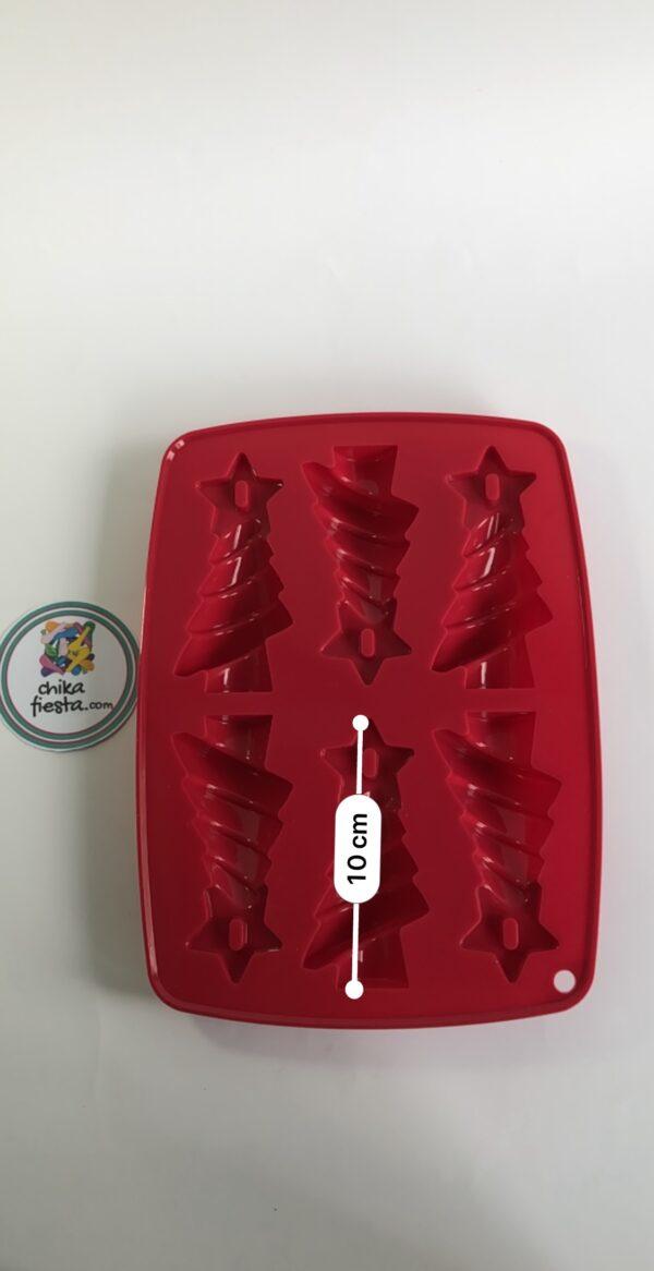 Molde de silicon Arbolitos de Navidad medidas