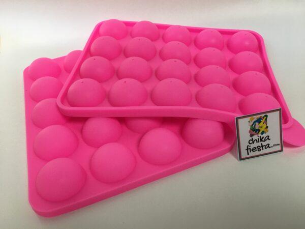 Molde de Silicon de Paletas Esferas Pastel Cake Pop