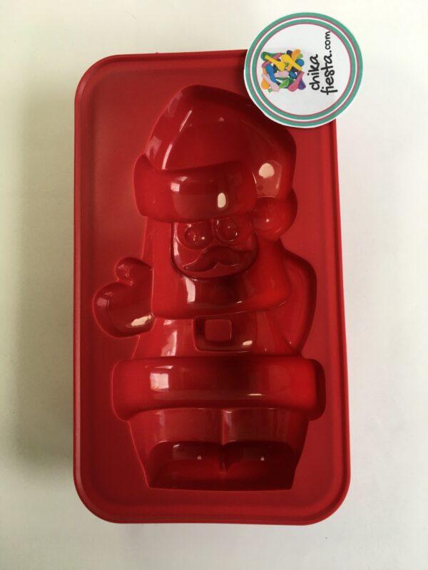 molde de silicon santa clous para gelatina