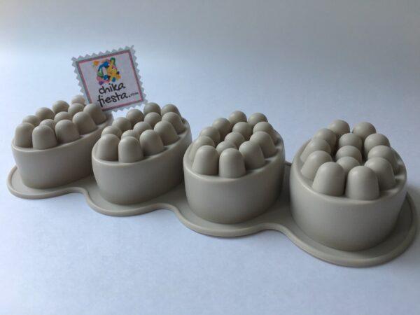 Molde de silicon para jabón masajeador