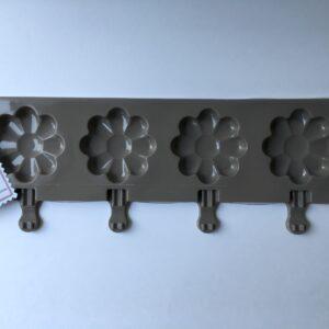Molde de silicon paletas magnum en forma de flor
